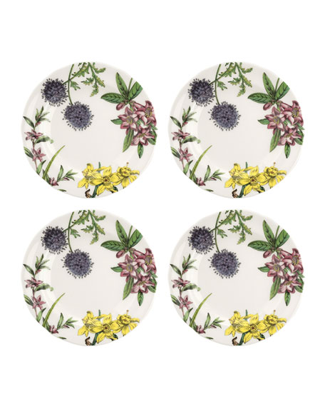Stafford Blooms Salad Plates, Set of 4