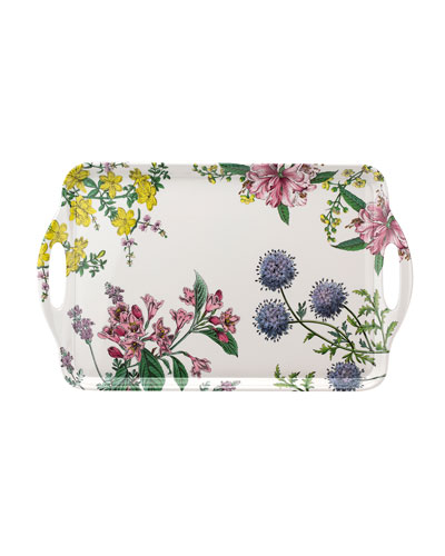 Stafford Blooms Large Melamine Handled Tray