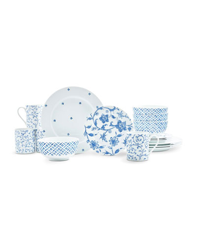 Blue Indigo 16-Piece Dinnerware Set