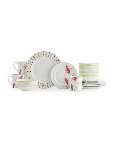 Magnolia Haze 16-Piece Dinnerware Set
