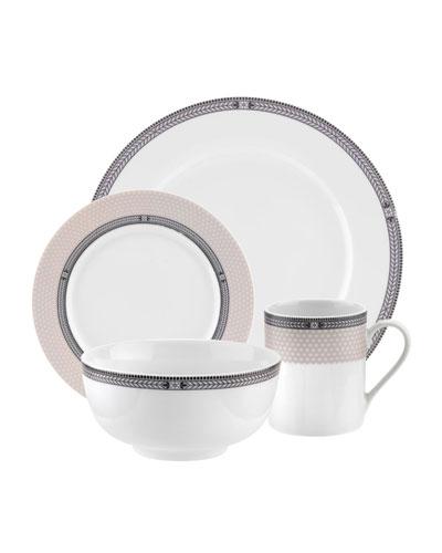 Vintage Chic 16-Piece Dinnerware Set