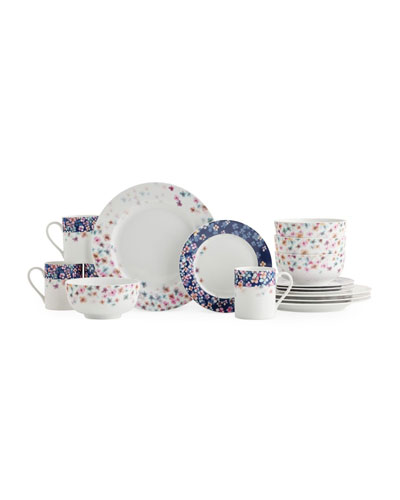 Mid Summer 16-Piece Dinnerware Set