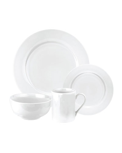 Pearl White 16-Piece Dinnerware Set