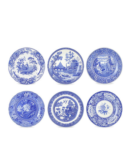 Blue Room Georgian Plate Set