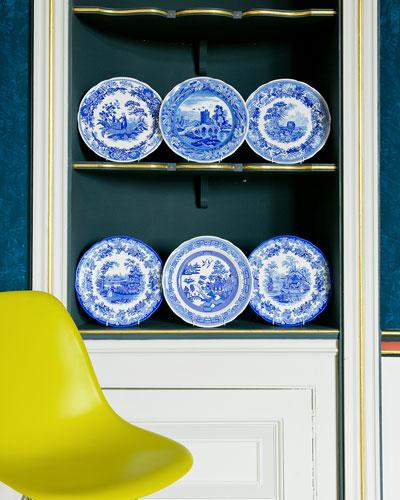 Blue Room Georgian Plate Set