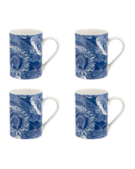 Blue Room Sunflower Mugs, Set of 4