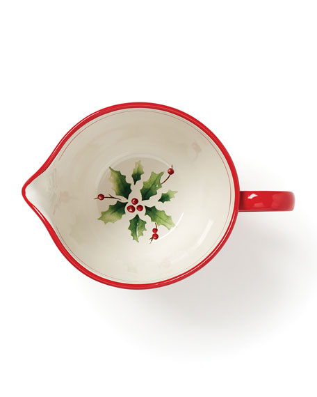 Holiday Hand-Painted Stripe Batter Bowl