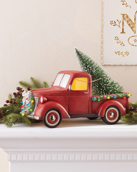 Lighted Nostalgia Pickup Truck Centerpiece