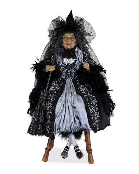 Platinum Sitting Witch