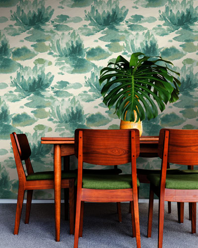 Water Lily Wallpaper Sample