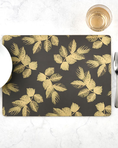 Sara Miller Etched Leaves Placemats  Set of 4