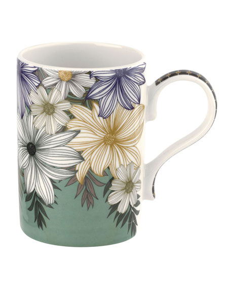 Atrium Floral Mugs, Set of 4