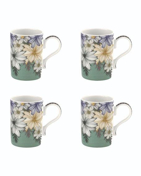 Portmeirion Atrium Floral Mugs, Set of 4