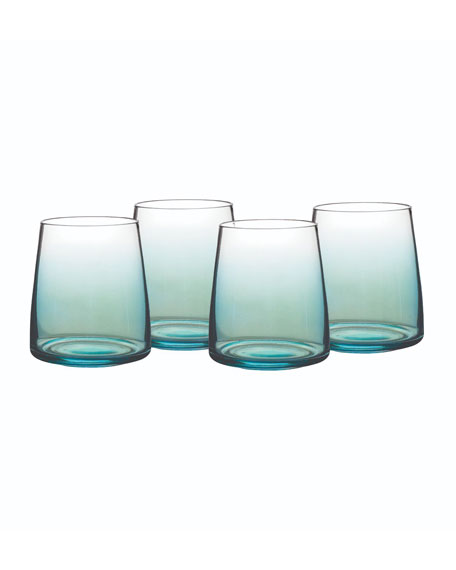 Atrium Stemless Wine Glasses, Set of 4