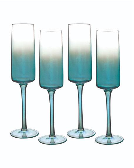 Atrium Champagne Flutes, Set of 4