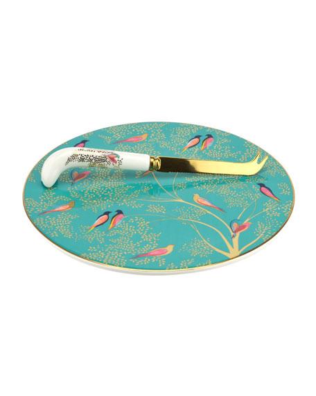 Sara Miller Chelsea Cheese Plate & Knife