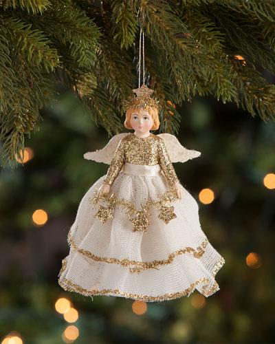 Peaceful Storybook Angel Ornament