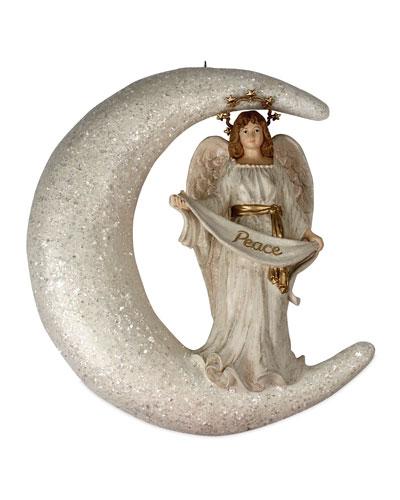 Peaceful Angel in Moon