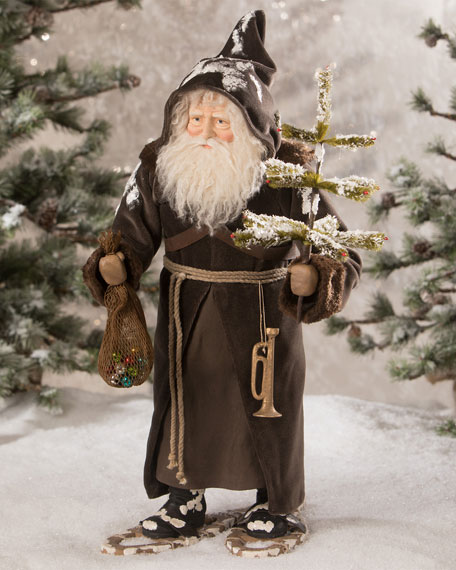 Woodland Santa on Snow Shoes