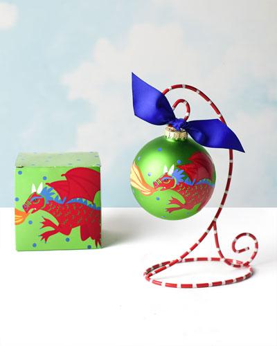 Dragon Glass Ornament  Personalized