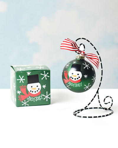 Jolly Jolly Snowman Ornament  Personalized