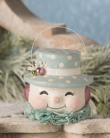 Happy Pastel Snowman Bucket, Medium