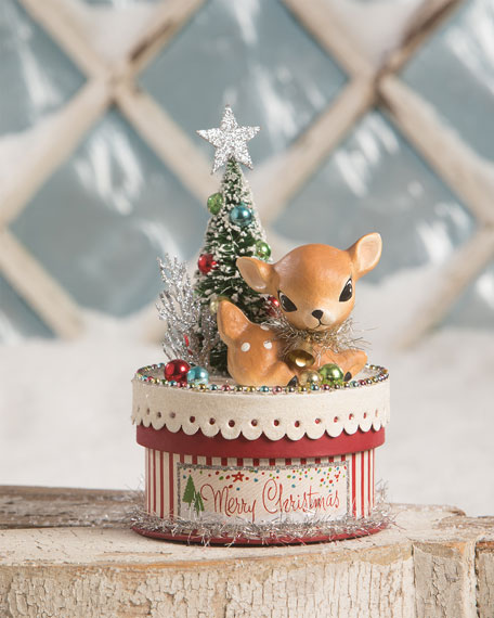 Bethany Lowe Merry & Bright Deer on Box