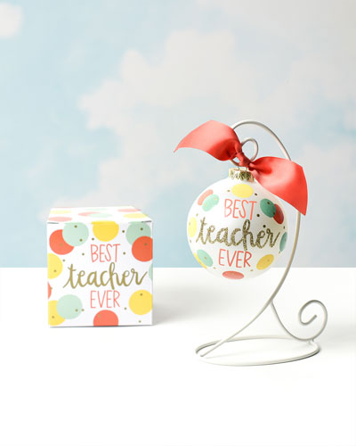 Best Teacher Ever Ornament  Personalized