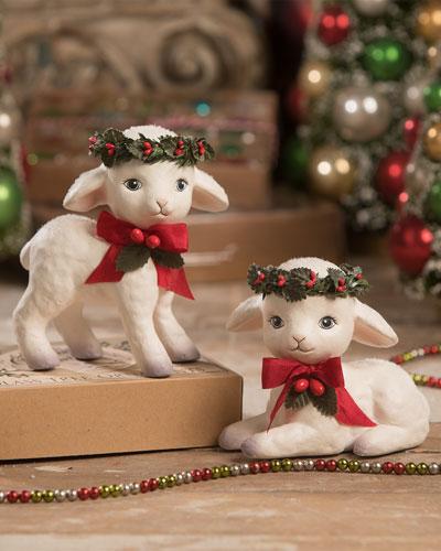 Sweet Christmas Lambs  Set of 2