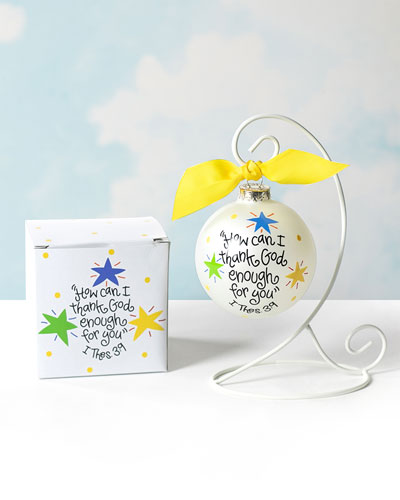 How Can I Thank God Enough for You Glass Ornament  Personalized