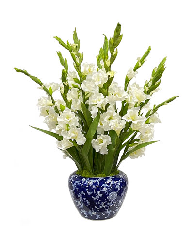 Gladiolus Arrangement in Bowl Vase
