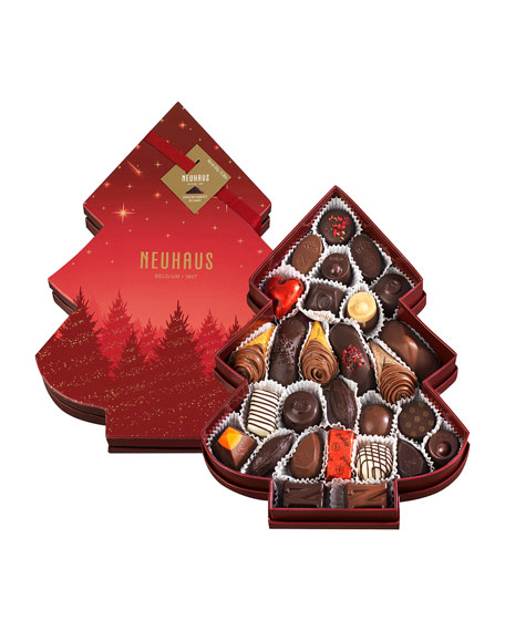 Neuhaus Chocolate Holiday Tree Shaped 27-Piece Chocolate Box