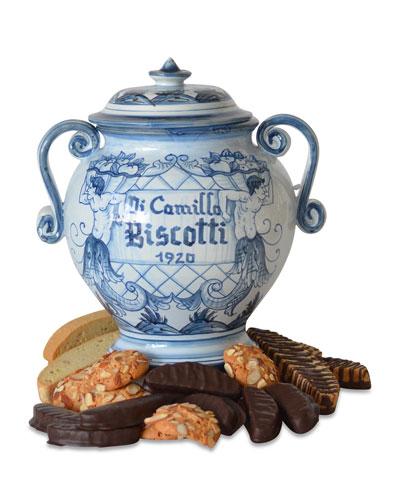 Gemelli in Blu Biscotti Jar