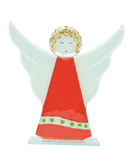 Glass Trees and Angels Angel in Red Dress Decor