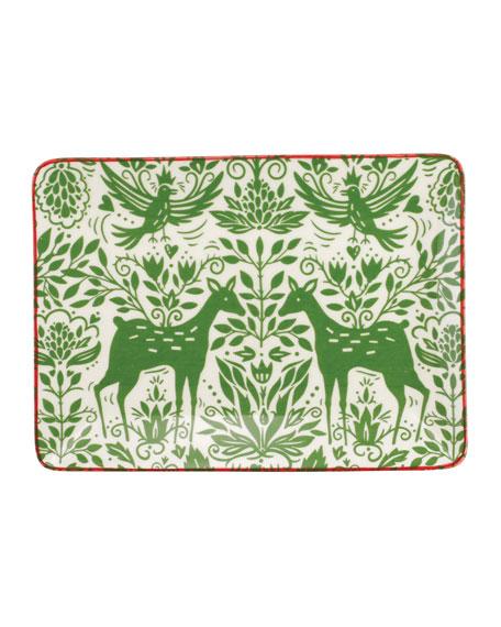 Mistletoe Small Rectangular Platter