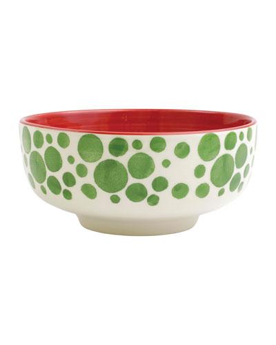 Mistletoe Bubble Medium Footed Serving Bowl