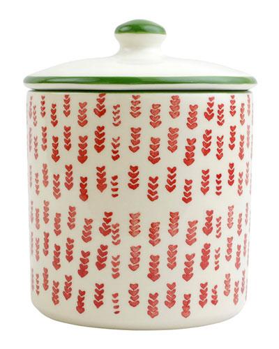 Mistletoe Arrow Cookie Jar