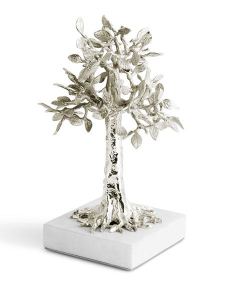 Foliated Cross Nickelplate Sculpture