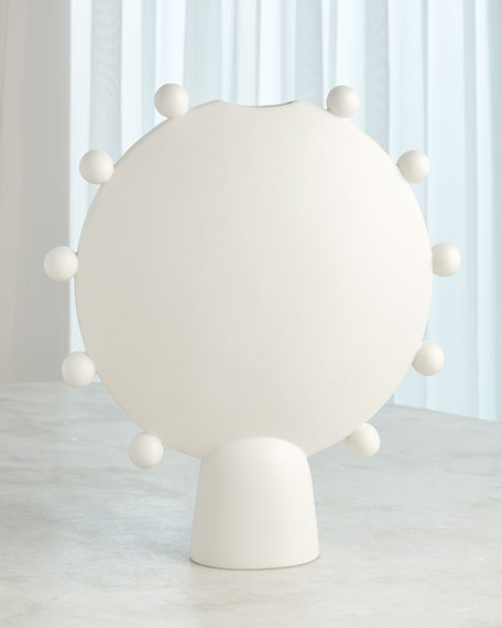 Spheres Collection White Vessel