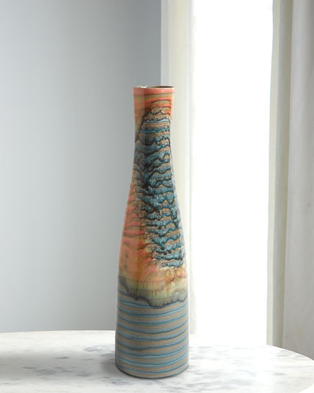 Watercolor Ringed Vase