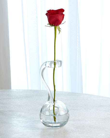 Clear Ring Flower Vase
