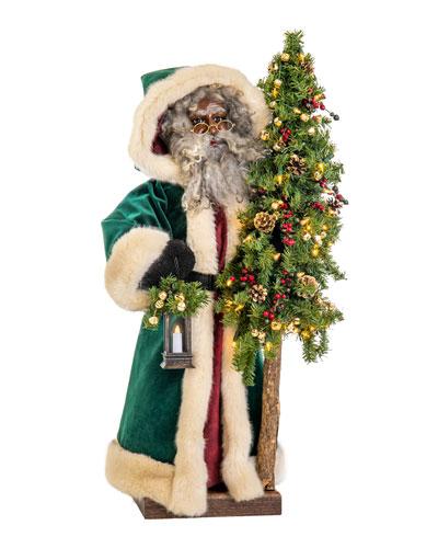 Malachite Christmas Black Santa  29