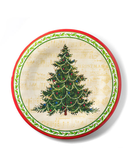 Merry Christmas Tree Salad Plates, Set of 4