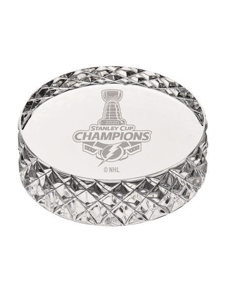 Tampa Bay Lightning NHL 2020 Stanley Cup Champions Crystal Hockey Puck