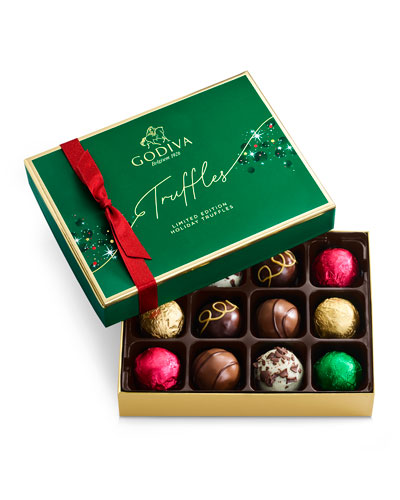 12-Piece Holiday Truffle Gift Box