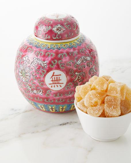 "6"" Porcelain Jar Filled with Ginger Candies"
