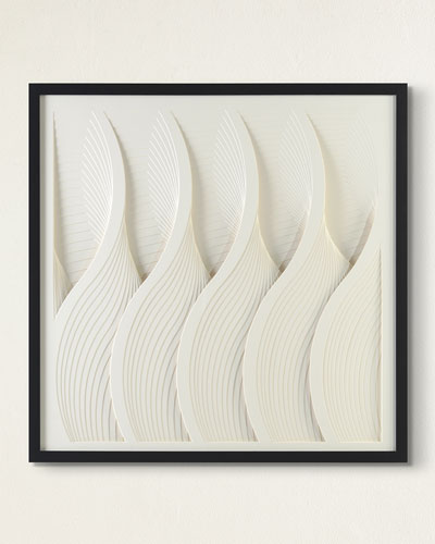 Waves in White Wall Art by Alger