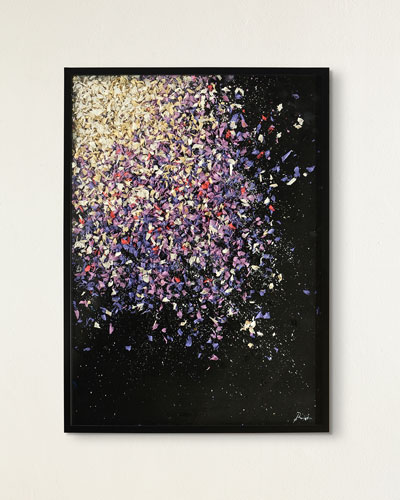 Purple Composition Abstract Art by Ruan Wei