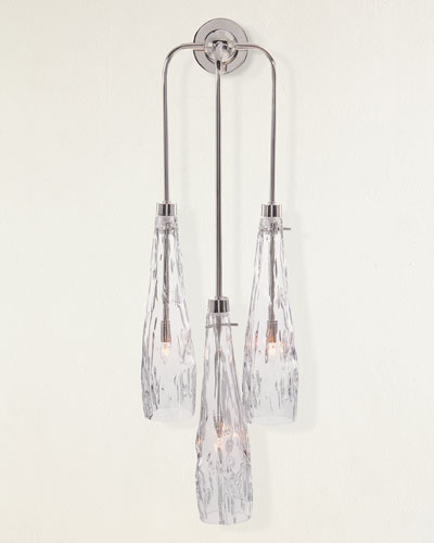 Three-Light Art Glass Wall Sconce
