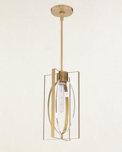 Genesis Single-Light Antique Brass Pendant